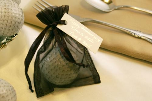 Chocolate Golf Ball Organza bag