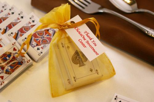 Chocolate Playing Cards Organza Bag