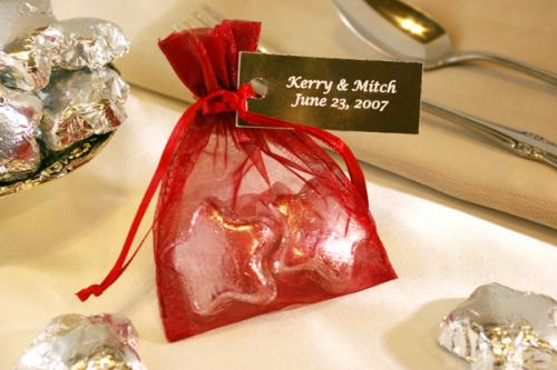 Chocolate Stars Organza Bag