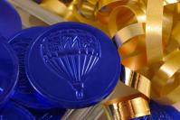 Chocolate Coins blue