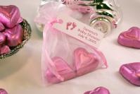 Chocolate Heart Organza Bag
